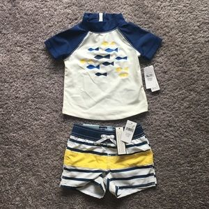 Baby Gap Boys Swim Top and shorts